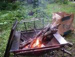焚き火の仕度