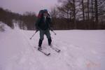 山スキーの雄姿